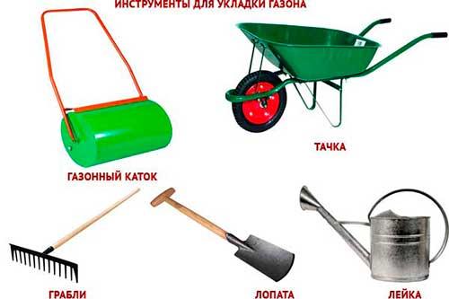 Инструменты для посадки газона